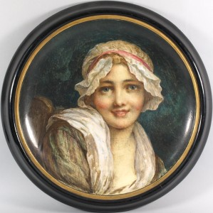 a minton charger painted by george woolliscroft jnr